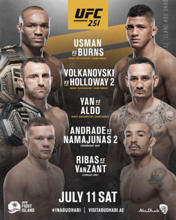 Watch Free UFC 251: Usman vs. Masvidal (2020)